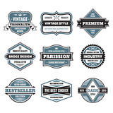 Vector graphic badges collection. Original vintage badges. Royalty Free Stock Images