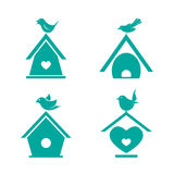 Vector group of bird houses Stock Images