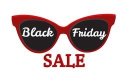 Vector icon badge Black Friday sale. Sunglasses, Black Friday Stock Photography