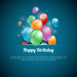 Vector Illustration of a Happy Birthday Card Royalty Free Stock Image