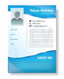 Vector illustration of professional resume template design Stock Images