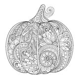 Vector Monochrome Decorative Punkim with Beautiful Pattern Royalty Free Stock Photography