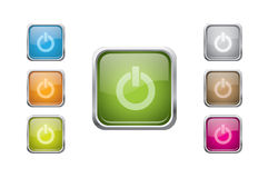Vector multicolored glossy rounded square buttons Stock Photography