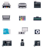 Vector office electronics icon set Stock Photography