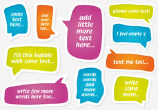 Vector pastel speech bubbles Royalty Free Stock Photography