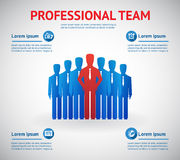 Vector professional team Royalty Free Stock Photo