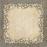 Vector retro border frame at grunge background Stock Images