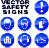 Vector safety signs Royalty Free Stock Photography