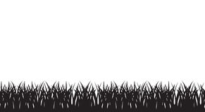Vector seamless illustration of silhouette of grass Royalty Free Stock Photo