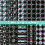 10 vector seamless patterns. Stock Image