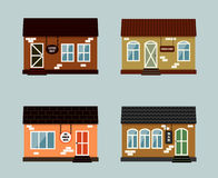 Vector set of exterior buildings Stock Photography