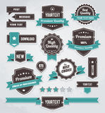 Vector set of retro labels Royalty Free Stock Image