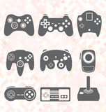 Vector Set: Video Game Controller Silhouettes Stock Photography