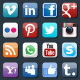 Vector social media icons Stock Photos