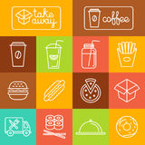Vector take away food Royalty Free Stock Image