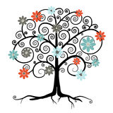 Vector Tree in Blossom Royalty Free Stock Photography