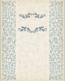 Vintage border frame decorative ornate calligraphy vector Stock Image
