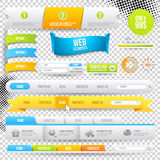Vector Web Elements, Buttons and Labels Stock Image