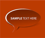 VectorRed  Bubble cut out paper (vector) Royalty Free Stock Photography