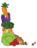 Vegetable Border Royalty Free Stock Photography