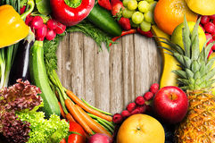 Vegetables and Fruit Heart Royalty Free Stock Photos