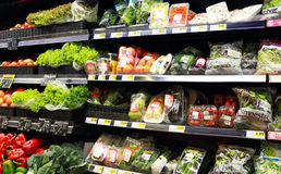 Vegetables at the supermarket Royalty Free Stock Photography