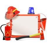 Vektor-Feuerwehrmann Board Lizenzfreie Stockfotografie