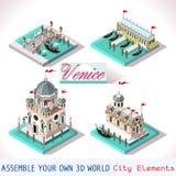 Venedig 03 Fliesen isometrisch Lizenzfreie Stockfotografie