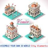 Venedig 02 Fliesen isometrisch Stockbilder