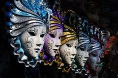 Venetiaanse maskers Stock Foto's