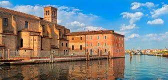 Venetian castle in Chioggia, Venice, Italy Stock Image