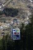 Venoise Express, Winter landscape in the ski resort of La Plagne, France Stock Photos