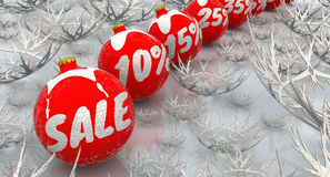 Vente de Noël Photographie stock
