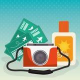 Verano, vacaciones y trave Imagen de archivo libre de regalías