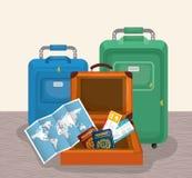 Verano, vacaciones y trave Imágenes de archivo libres de regalías