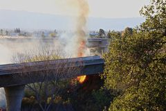 Verheerendes Feuer Kalifornien Stockbilder
