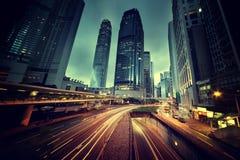 Verkeer in Hongkong Stock Afbeeldingen