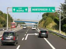 Verkehr Autostrada, Italien Stockbild