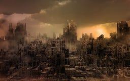Vernietigde Stad Stock Afbeeldingen