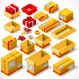 Verpacken 02 Gegenstände isometrisch Stockbilder