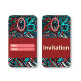 Vertical invitation card for holiday 2016 Stock Photography
