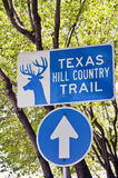 Vertical Sign for Texas Hill Country Trail Stock Photography