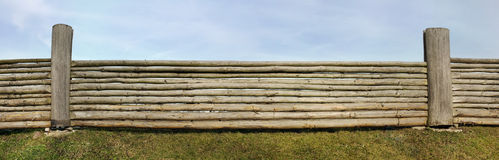 Very long rural fence Royalty Free Stock Photos