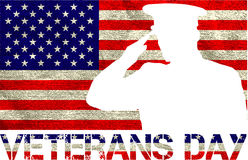 Veterans day sign Royalty Free Stock Image
