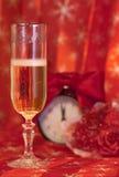 Vetro con champagne per il nuovo anno Fotografie Stock Libere da Diritti