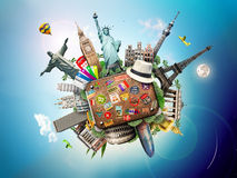 Viaggio, mondo Immagine Stock