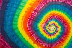 Vibrant and Colorful Tie-Dyed Swirl Royalty Free Stock Photos