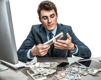 Vice-president or director satisfied with his earnings Stock Image