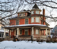 Victorian home on a winter morning Stock Images