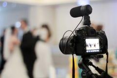 Vidéographie de mariage Photo stock